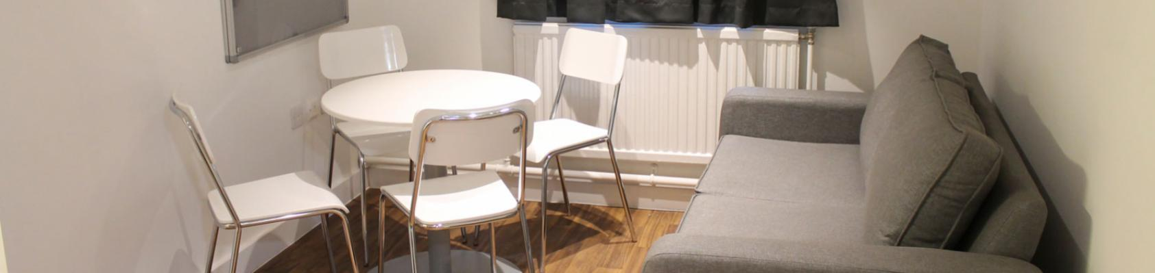 Student accommodation example shared lounge