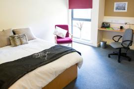 Example bedroom in Sanctuary Addenbrookes en-suite accommodation.