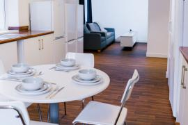 Example shared kitchen and lounge in our Student accommodation