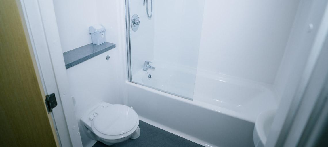 Example bathroom in our en-suite accommodation