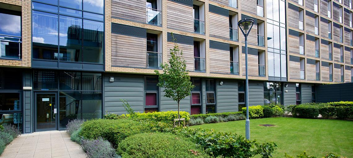 Exterior of Sanctuary Addenbrookes en-suite accommodation