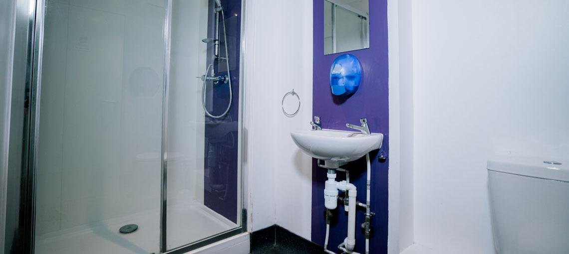 Example shared bathroom in our Student accommodation